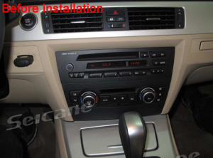 2005-2012 BMW 3 Series E90 E91 E92 E93 radio installation step 1