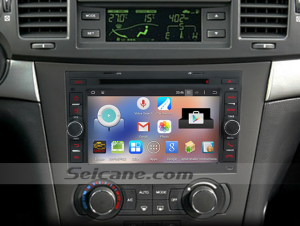 2002-2011 Pontiac Wave car stereo after installation