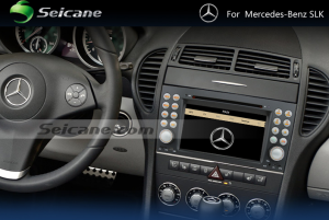 2004-2012 Mercedes-Benz SLK W171 car stereo after installation