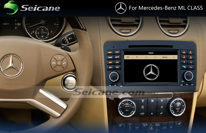 5-2012 Mercedes-Benz GL CLASS X164 car stereo after installation