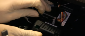 10.Disconnect the connectors at the back of the trim panel.