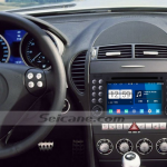 2000-2008 Mercedes Benz SLK class head unit after installation