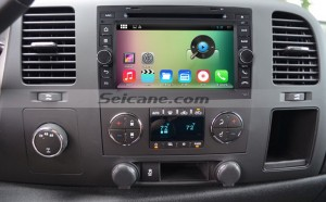 2007-2013 Chevy Chevrolet Tahoe radio after installation