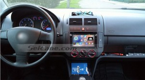 2000-2009 VW Volkswagen Polo head unit after installation