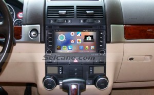 2003-2014 VW Volkswagen Transporter head unit after installation
