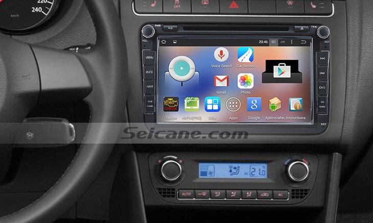2010-2013 Skoda SUPERB car radio after installation