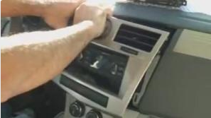 2-1.Take the panel off the dash and disconnect the wires from the car