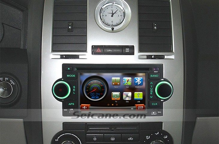 2002-2008 Dodge Viper head unit after installation