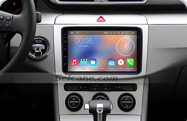 2012 2013 Skoda Rapid head unit after installation