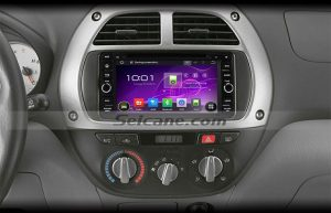 2003-2010 Toyota Land Cruiser head unit after installation