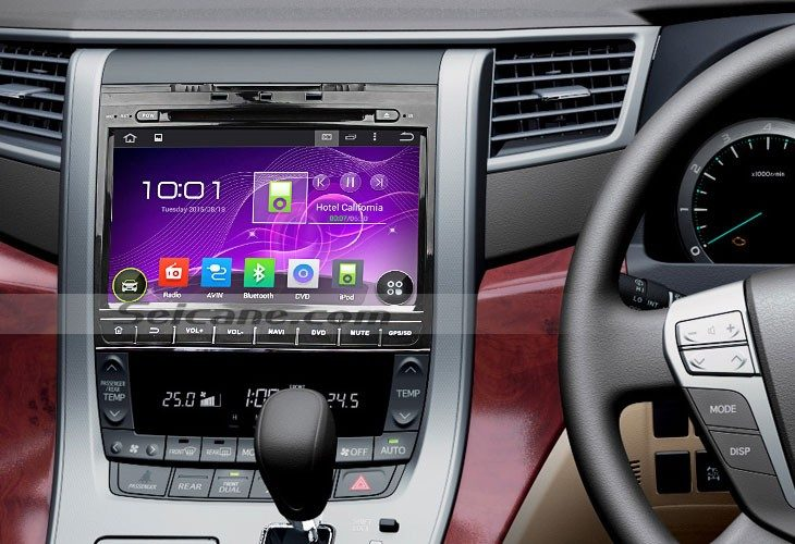 2007-2013 TOYOTA Alphard car stereo after installation