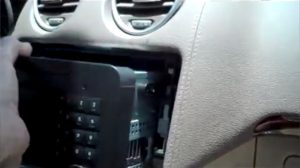 Take the original CD player out of the dashboard
