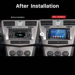 2008 2009 2010 Jeep Commander head unit after installation