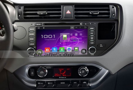 Seicane S168047 2011 2012 KIA RIO car radio after installation