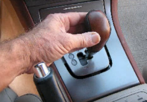 Set the shift lever backwards