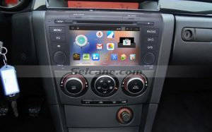 2004-2009 Mazda 3 gps dvd car stereo after installation