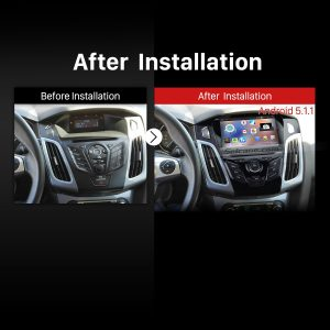 2011 2012 2013 Ford Focus USB DVD head unit after installation