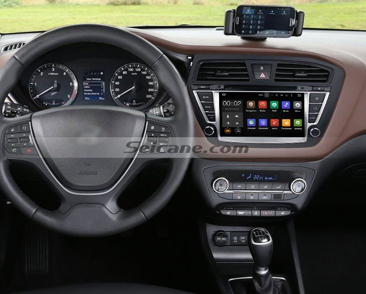 2014 2015 Hyundai i20 gps nav dvd player after installation