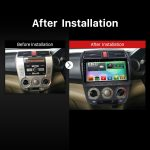 2008-2012 Honda City Car Stereo after installation