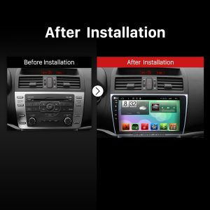 2008-2015 Mazda 6 Ruiyi GPS Stereo after installation