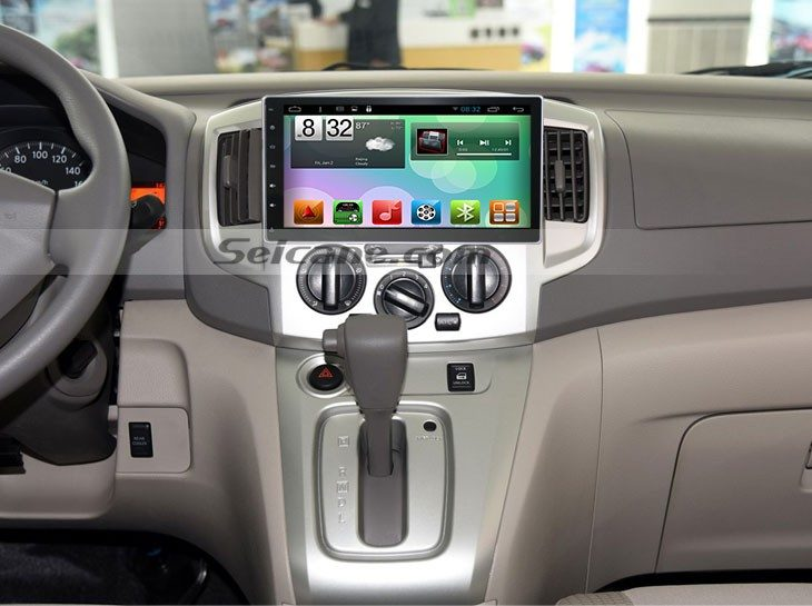 2009-2012 Nissan NV200 GPS Bluetooth Car Stereo after installation