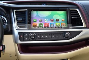 2015 Toyota Highlander GPS Navi DVD Car Stereo after installation