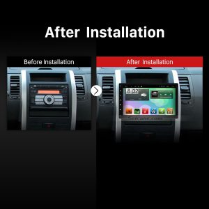 Universal car stereo after installation