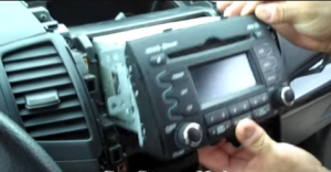 Pull the original radio out of the dash