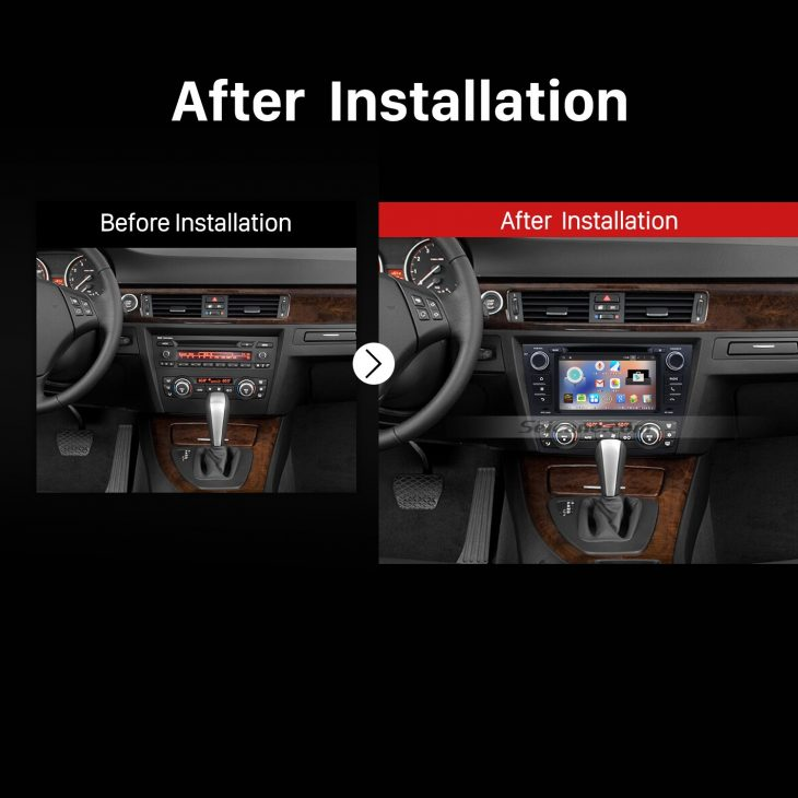 2005-2012 BMW 3 Series E90 E91 E92 E93 Audio Sound Stereo after installation