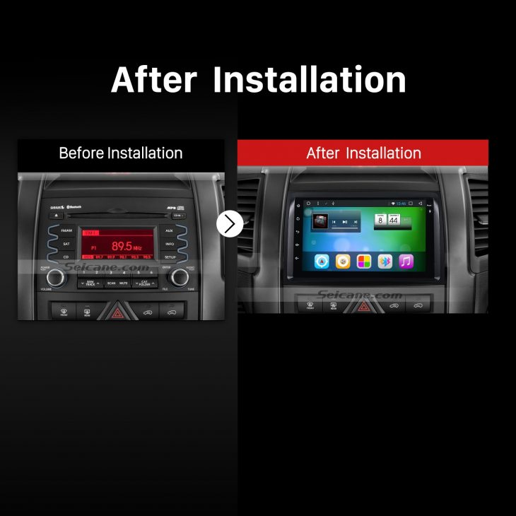 2009-2012 KIA Old Sorento car radio after installation