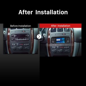 1999-2004 Jeep Grand Cherokee car radio after installation