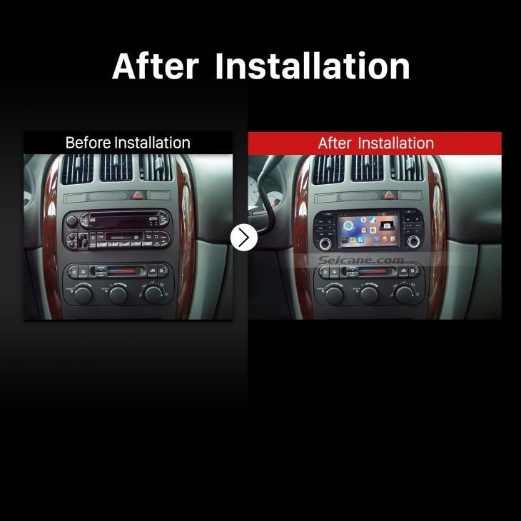 2002-2007 Jeep Liberty stereo after installation