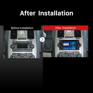 2002-2008 Chrysler Aspen Concorde Pacifica car stereo after installation