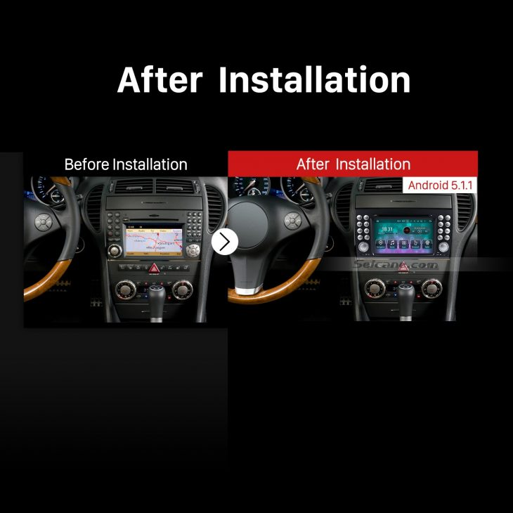 2004-2012 Mercedes-Benz SLK W171 R171 car stereo after installation
