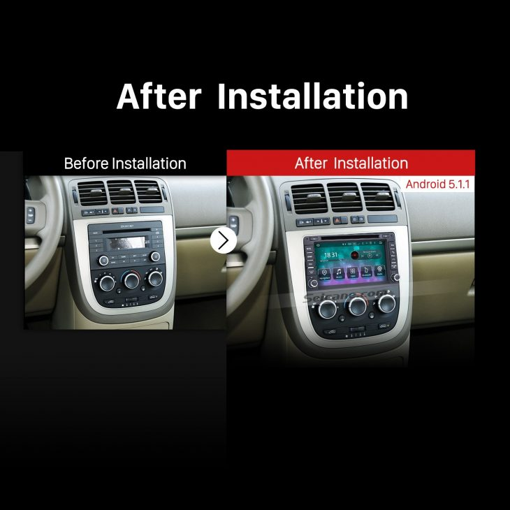 2006-2009 Hummer H3 car stereo after installation