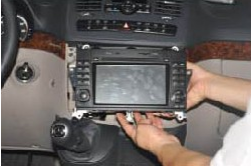 Install the new Seicane stereo into the dashboard