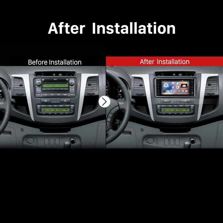 2000-2006 TOYOTA COROLLA EX Car Stereo after installation