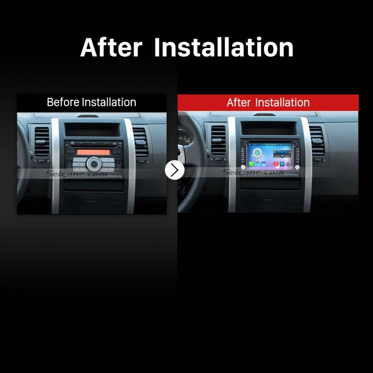 2003-2009 Kia spectra stereo after installation