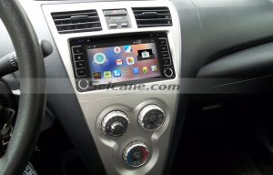 2003-2010 TOYOTA VIOS Touch Screen Stereo after installation