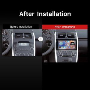 2006-2012 Mercedes Benz Viano Vito car stereo after installation