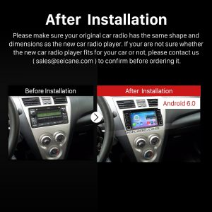 2003-2010 TOYOTA VIOS Bluetooth Car Radio after installation
