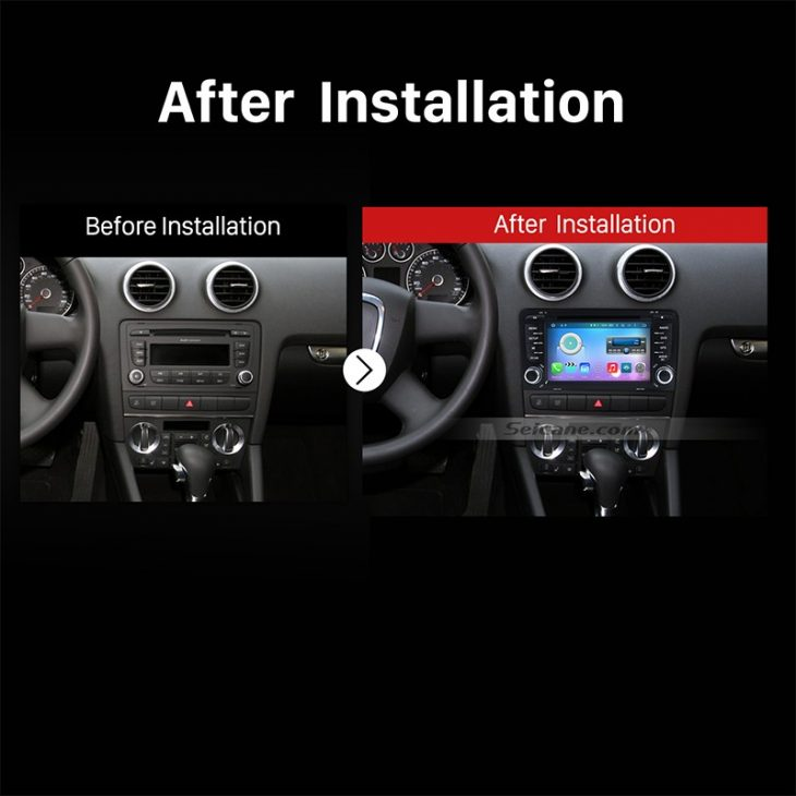 2003-2011 Audi A3 Car Radio after installation