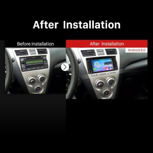 1996-2009 TOYOTA PRADO Car Stereo after installation
