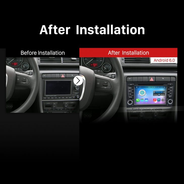 2003-2011 Audi A4 S4 RS4 Bluetooth GPS DVD Car Radio after installation