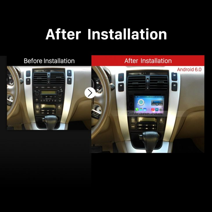 Double Din Universal Car Stereo after installation