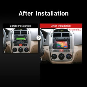 2003 2004 2005 2006 2007- 2009 Kia Cerato GPS Bluetooth DVD Car Radio after installation