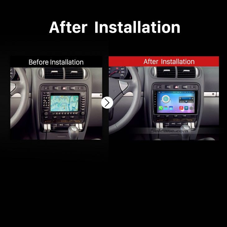 2003-2010 PORSCHE Cayenne GPS Bluetooth Car Radio after installation