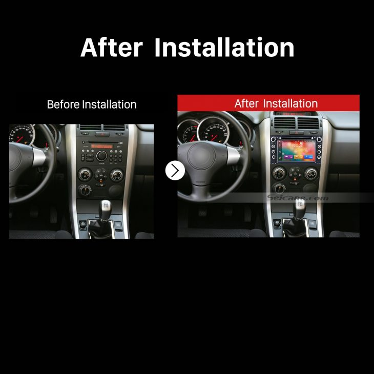 2005 2006 2007 2008 2009-2013 Suzuki Grand Vitara Car Radio after installation