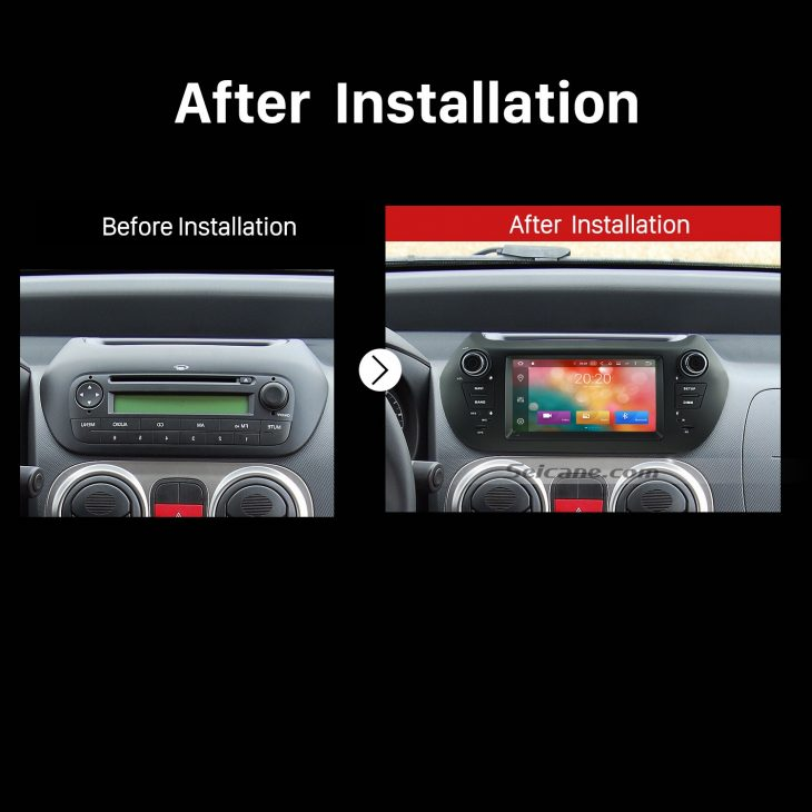 2007 2008 2009 2010 2011-2013 FIAT Fiorino GPS Bluetooth DVD Car Radio after installation
