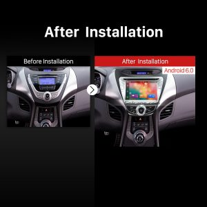 2011 2012 2013 2014 2015 Hyundai Elantra Bluetooth GPS DVD Car Stereo after installation